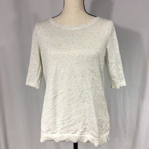 H&M Speckled Sheer-Back Top Size Small